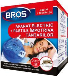 Aparat electric + pastile impotriva tantarilor (10 buc), Bros 010
