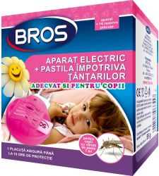 Aparat electric + pastile tantari (10 buc) pentru copii, Bros 370
