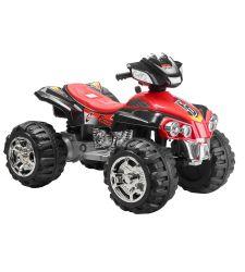 ATV electric pentru copii, 12V / 7Ah / 2 x 25W, 3 - 6 km/h negru cu rosu, Hecht 55128