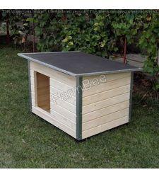 Cusca caine DC neizolata / lambriu lemn natural / acoperis carton bituminat (marime 2)