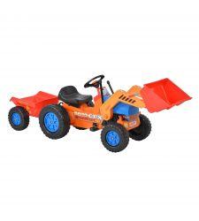 Excavator cu pedale pentru copii, remorca si cupa manevrabila, Hecht 51413