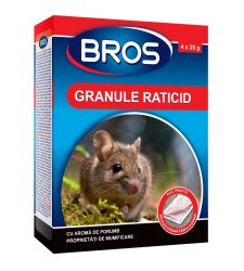 Granule raticide soareci si sobolani (100 g), Bros 087