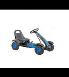 Kart cu pedale pentru copii, negru cu albastru, Hecht 50100