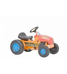 Kart cu pedale pentru copii, tuburi otel, rosu cu galben, Hecht 59788