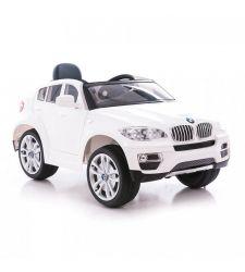 Masina electrica BMW X6 pentru copii, 12V / 7Ah / 2 x 45W, alb, Hecht BMW X6-White