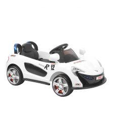 Masina electrica cu telecomanda pentru copii, 2 x 6V / 4Ah / 2 x 15W, 3-5 km/h, alb, Hecht 51119