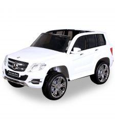 Masina electrica Mercedez Benz GLK pentru copii, 12V / 7Ah / 35W, alb, Hecht Mercedez Benz GLK-Class White