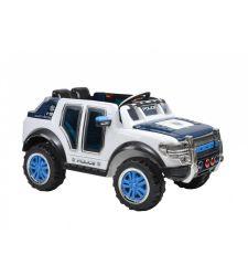 Masina electrica  politie pentru copii, 12V / 7Ah / 2 x 30W, alb cu albastru, Hecht 58588