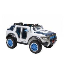 Masina electrica  politie pentru copii, 12V / 7Ah / 2 x 30W, alb cu negru,Hecht 58587