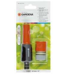 """Set spritzer reglabil si mufa conectoare cu STOP 1/2"""", Gardena 8172"""