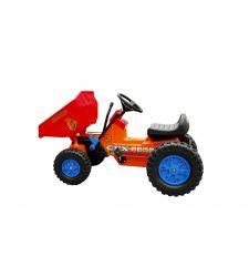 Tractor cu pedale pentru copii, cupa manevrabila, portocaliu, Hecht 51312