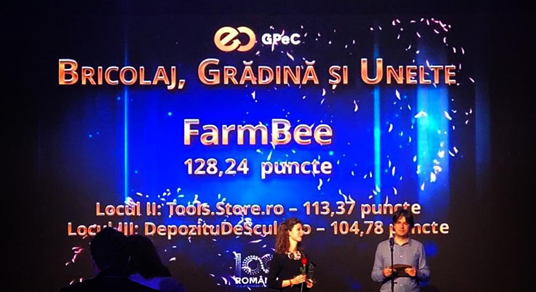"""FarmBee.ro a fost desemnat cel mai bun magazin din categoria """"Bricolaj, Gradina si Unelte"""""""